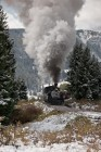 Steam Train in Snowy Pass, Cumbres & Toltec RR