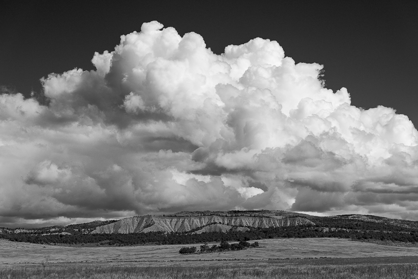 Clouds over Abiquiu, NM. (Nikon 70-200mm f/2.8 on Nikon D810.)