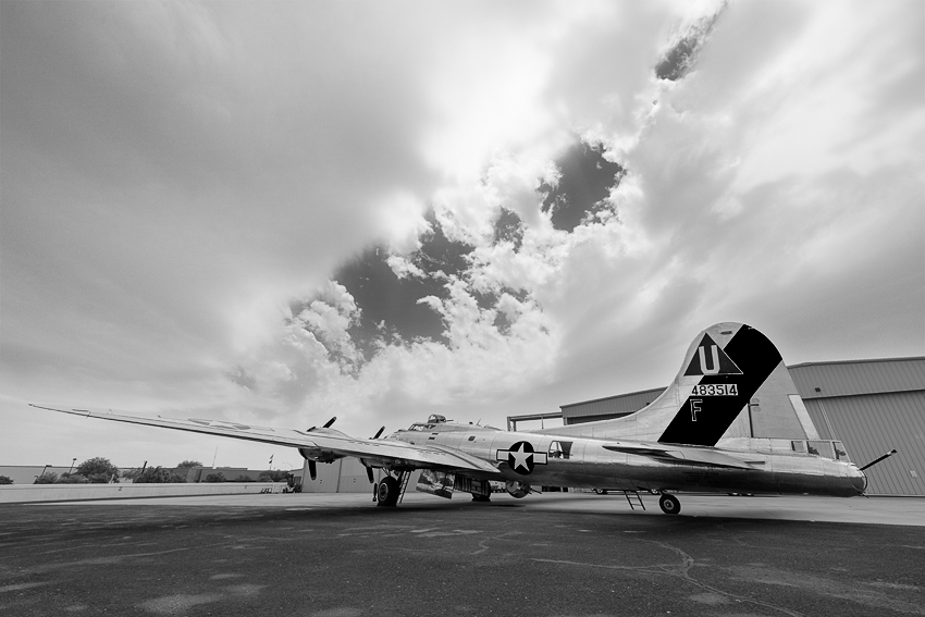 B-17G Flying Fortress. Commemorative Air Force Museum, Mesa, AZ. (ZEISS Milvus 15mm f/2.8 on Nikon D810.)