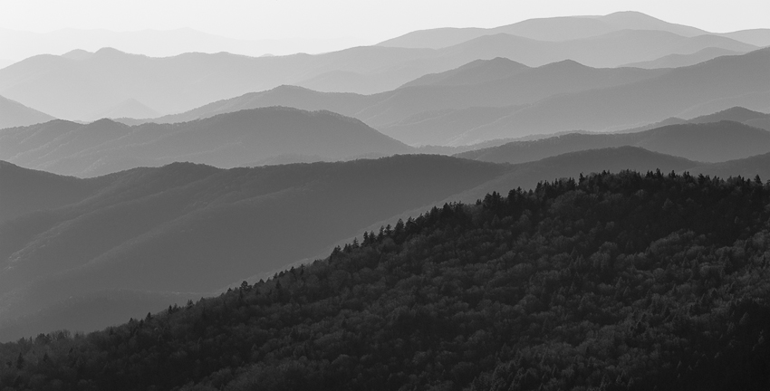 Clingmans Dome Sunset. (Nikkor 80-400mm on Nikon D810.)